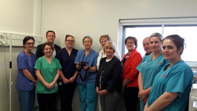 Presentation of Dermalite equipment by Hospital Action Committee to Plastics Team at RUH