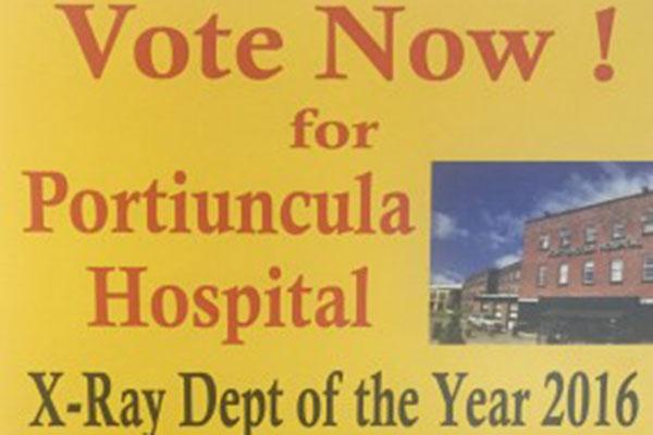 Radiology Department at Portiuncula University Hospital shortlisted for 2016 MEDRAY award - Public can support the Radiology Department by voting online before 14 September