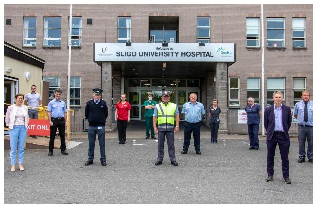 Sligo University Hospital thanks Sligo County Council staff for their support