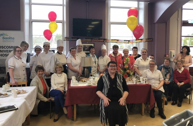 Helen hangs up her apron after 44 years of service in the Catering Department at RUH