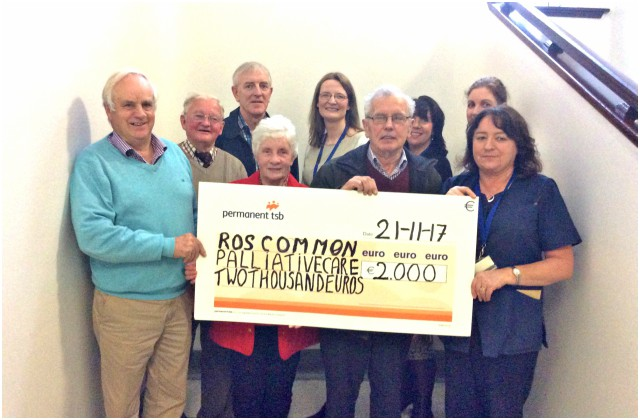 Cheque presentation to Palliative Care Services, RUH