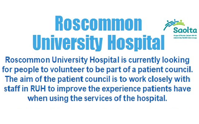 Roscommon University Hospital is looking for Patient Council volunteers
